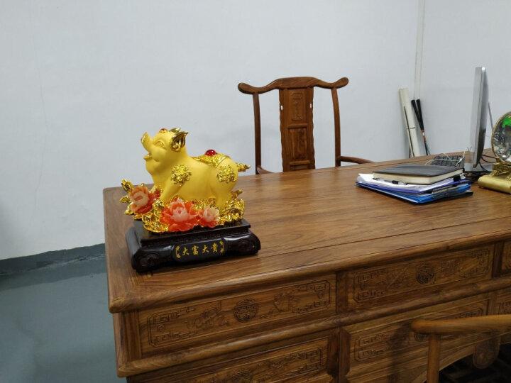上善若水 财福猪 家居装饰摆件 十二生肖猪年过年送礼酒柜电视柜摆设 四小猪 晒单图