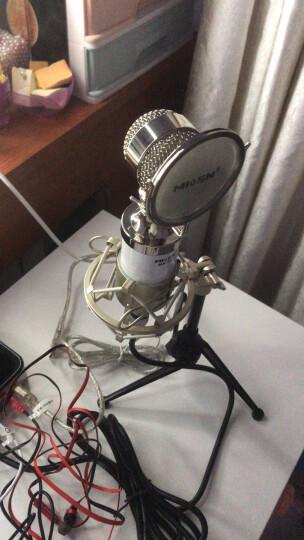 魅声 T6-2 外置声卡电容麦克风套装 快手抖音专用K歌主播麦克风话筒 手机电脑直播录音唱歌设备全套 白色(赠送铝箱) 晒单图