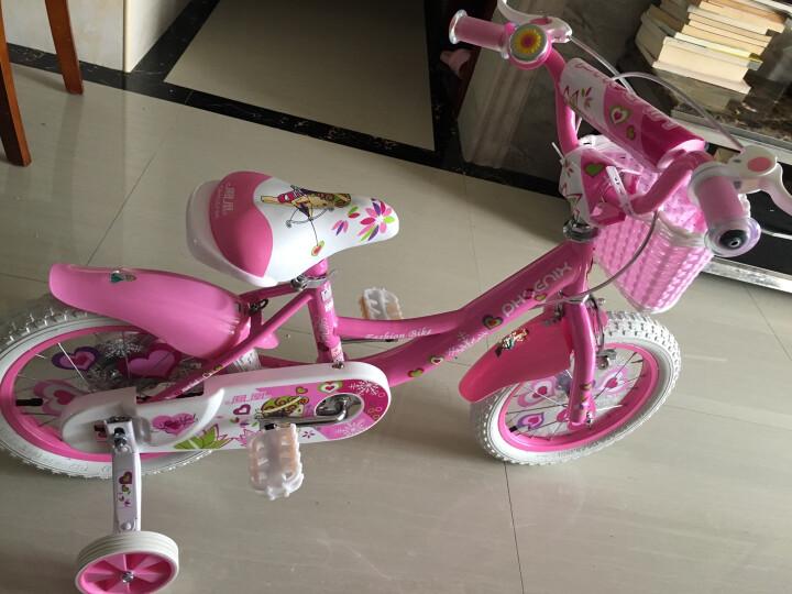 凤凰(Phenix) 凤凰儿童自行车16寸童车14/12/18寸女款宝宝2/3/6岁单车 粉色/带后衣架 18寸 晒单图