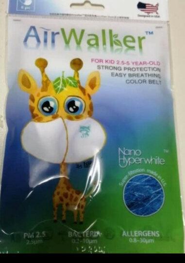 鲜行者 Airwalker 美国进口滤材儿童口罩薄款 2.5-5岁(加强型) 防雾霾防尘花粉柳絮 耳带式 6只装 晒单图