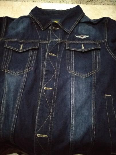 飞米斯(FMIX)牛仔夹克男外套秋冬季薄款韩版修身大码休闲复古加绒加厚牛仔上衣 619蓝色 XL 晒单图