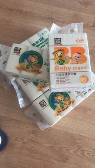 泉林本色抽纸 3层压花90抽*4包(无香无二噁英残留 食品级检测 母婴儿可用 本色卫生面巾抽纸) 晒单图