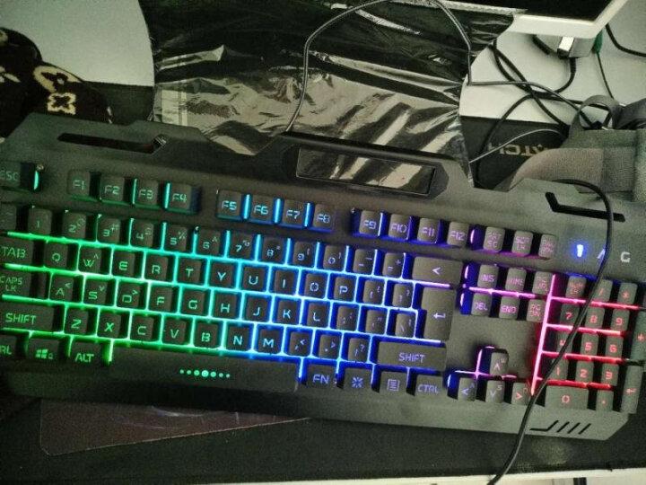 狼途吃鸡键盘鼠标耳机三件套(真机械手感键鼠套装 台式笔记本电脑游戏 家用外接有线电竞外设usb) 白色冰蓝光键盘+游戏鼠标 晒单图