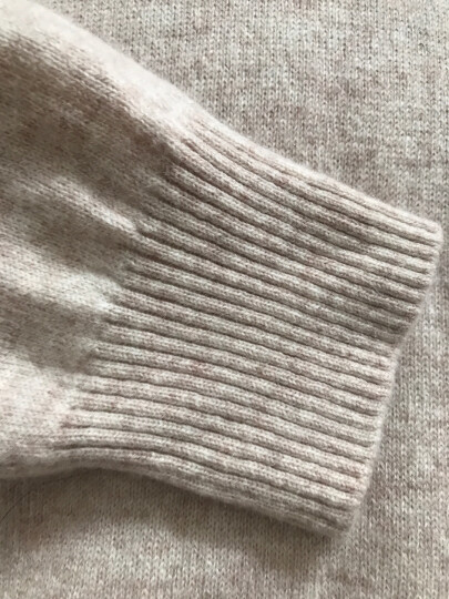 雪莲秋冬新款女士山羊绒衫百搭V领套头女毛衣针织衫 打底衫 羊绒衫女 石榴红 R242 XL(110) 晒单图
