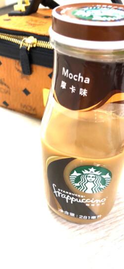 星巴克星冰乐咖啡奶茶281ml*6瓶礼盒装(摩卡 咖啡 焦糖 香草 抹茶) 摩卡味咖啡 晒单图