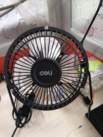 得力(deli)USB全金属迷你桌面风扇/小风扇/电风扇/学生宿舍风扇 黑色 晒单图