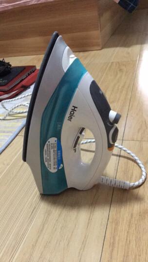 海尔(Haier)电熨斗 蒸汽挂烫机 1600W 陶瓷底板 自动清洗 家用手持迷你YD1618 一年质保 晒单图