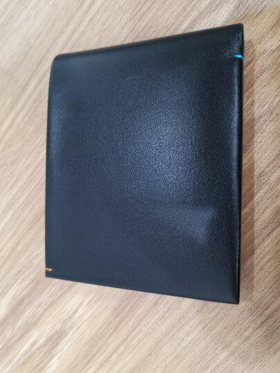 金利来(Goldlion)新款男士钱包牛皮简约男士票夹商务钱夹 竖款 黑A721001-311 晒单图