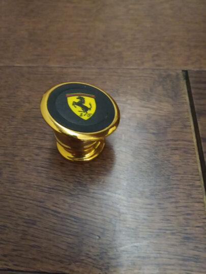车载手机支架创意磁铁导航支架仪表台多功能汽车用磁性手机座 强力磁吸360度旋转 土豪金色 法拉利1 晒单图