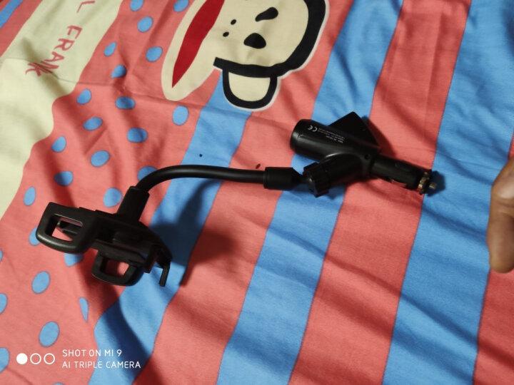 欧斯莱 汽车多功能手机支架 自带点烟口 双USB接口车充 点烟口手机支架 适合苹果 华为 点烟器手机架  快速充 手机支架 黑色 晒单图