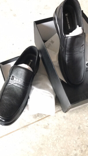 蜘蛛王男鞋2019单鞋新款办公室真皮透气皮鞋套脚正装鞋 90056 棕色 40 晒单图