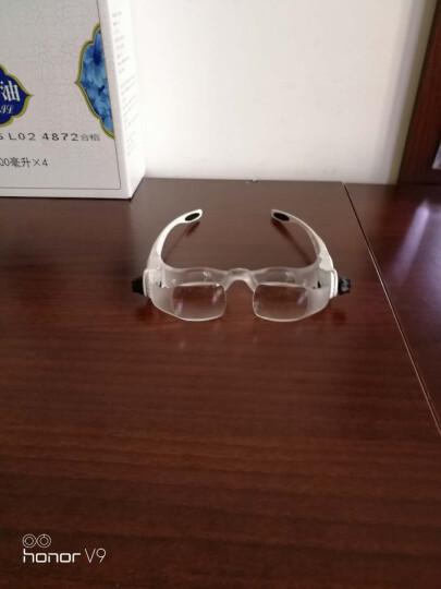 拜斯特(BAISITE) 头戴放大镜眼镜式老人阅读看报手机电脑维修钟表电路板头盔式 晒单图