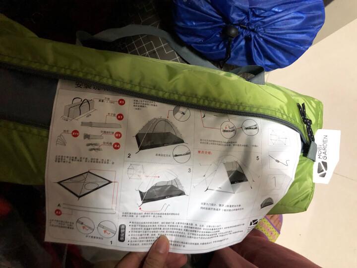 牧高笛(MOBIGARDEN) 双人双层三季防风防雨铝杆帐篷 QR2 MZ098010 绿色 晒单图
