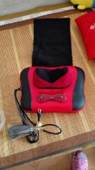 佳健仕(JIA JIAN SHI) 颈椎按摩器 颈部腰部按摩枕 家庭办公两用全身按摩靠垫 车载红色 晒单图