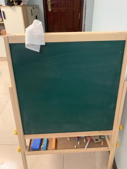 得力(deli) 33055 实木可升降390*330mm双面磁性多功能学生白板 儿童画板画架 粉笔绿板(尺寸不含边框) 晒单图