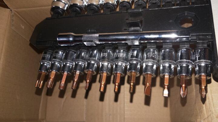 工蜂 WORKERBEE 24件10mm系列 AS004-024G汽修套筒系列组套 快速棘轮扳手套装 机修工具 汽修工具 晒单图