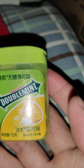 绿箭(DOUBLEMINT)无糖薄荷糖冰柠薄荷味20粒12g塑料盒装(新旧包装随机发) 晒单图