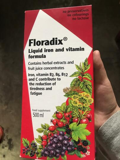 德国原装Salus Floradix 进口铁元孕妇补铁剂滴剂 儿童补充9种维生素和钙250ml*2瓶 晒单图