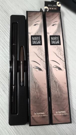 玛丽黛佳眉笔 自然持久防水防汗不易脱色 新手双头扁圆笔头自然生动眉笔送替换装 01 黑色 0.2g+0.2g 晒单图