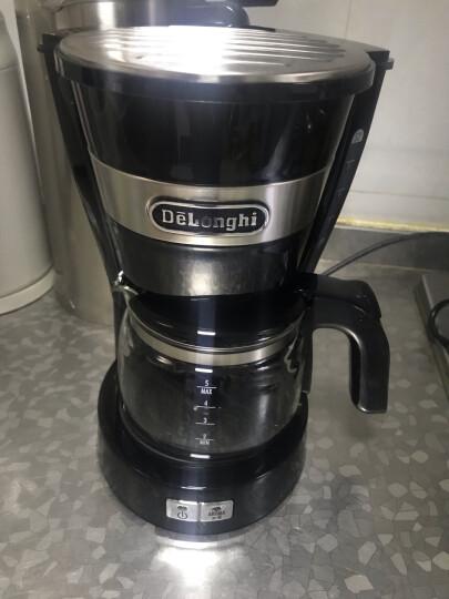 德龙(Delonghi) ICM14011 咖啡机 美式滴漏半自动咖啡壶 家用泡茶机 玻璃咖啡壶 时尚黑 晒单图