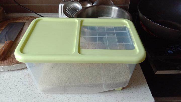 沃德百惠(WORTHBUY)日本米桶储米箱10公斤15米收纳箱防虫面粉桶储面塑料米盒子 绿色(6.5kg) 晒单图