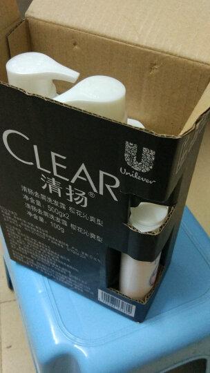清扬(CLEAR)去屑洗发水套装 樱花沁爽型500gx2送樱花沁爽100g(新老包装随机发货)(氨基酸洗发) 晒单图