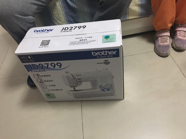 兄弟(brother)GS2700升级款JD2799电动家用缝纫机多功能带锁边吃厚自动穿线入门力荐款 JD2799标配(不含礼品) 晒单图