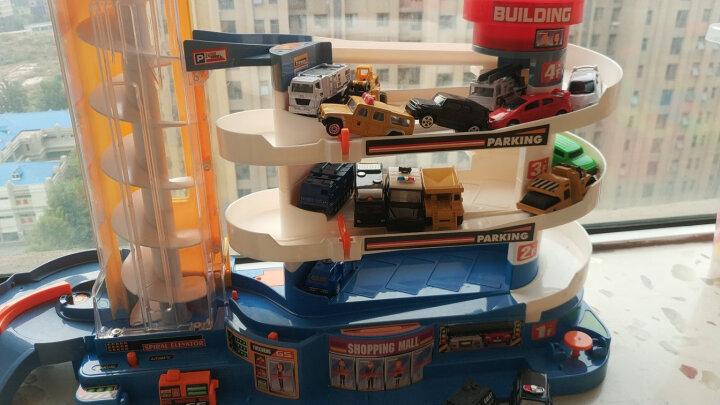 玩具汽车儿童停车场合金工程玩具车警车巴士模型迷你跑车小车套装 潜艇收纳盒 晒单图