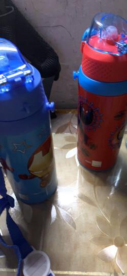 迪士尼(Disney)儿童保温杯男女学生水杯子304不锈钢吸管直饮保温壶红色蜘蛛侠500ml双盖三用 晒单图