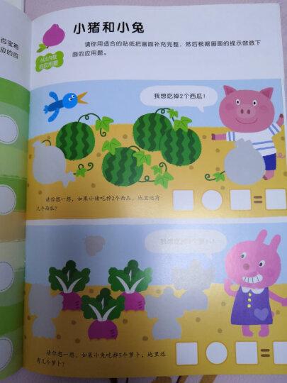 邦臣小红花·我的第一本数学启蒙贴纸游戏书(5~6岁 套装全6册) 晒单图