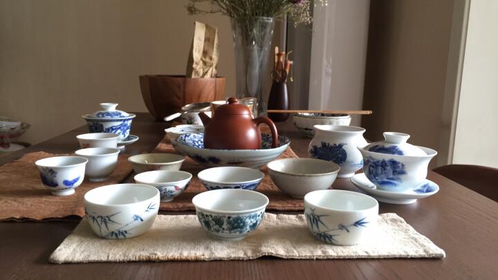 京德贵和祥手绘高温陶瓷个人杯品茗杯私家杯茶杯主人杯专用杯 满彩连普洱杯 晒单图