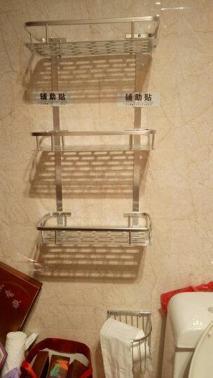 新中式亚【免打孔】卫生间置物架 厕所洗手间浴室置物架 洗漱台收纳三角架 壁挂挂件新中式 毛巾架40cm-亮光经典款 晒单图