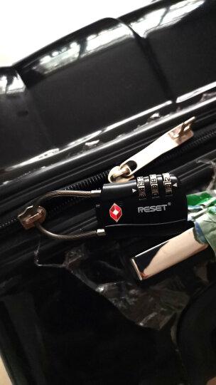 锐赛特(RESET)3位密码锁出境欧美TSA出国旅行拉杆箱金属密码锁软钢丝绳柜子锁健身房密码门锁挂锁 075黑色 晒单图