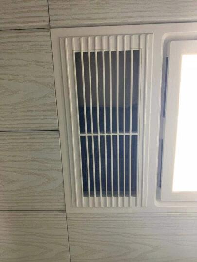 雷士照明集成吊顶灯 厨卫灯 面板灯扣板灯LED平板灯具节能防油抗污厨房卫生间嵌入式 拉丝银 300*600 24瓦 暖白光 4000K 晒单图