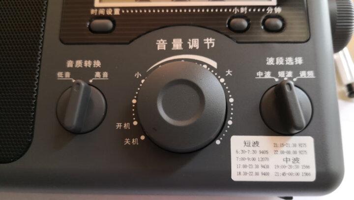 熊猫(PANDA)T-01老人迷你三波段半导体 全波段收音机 插卡锂电数码音响(黑色) 晒单图