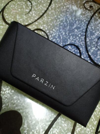 帕森(PARZIN)太阳镜男款偏光驾驶墨镜男士偏光眼镜8009 金边框G15片 晒单图