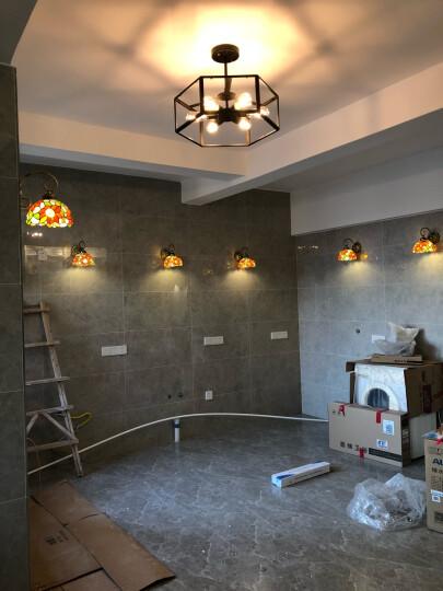 KC灯具美式乡村工业创意复古餐厅咖啡厅酒吧铁艺玻璃箱吊灯 赠烟火LED灯泡 晒单图