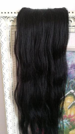 黛美丝 假发隐形长直假发片一片式接发片长直发女真发发片无痕接发原生顺发 70CM加宽版黑色 晒单图