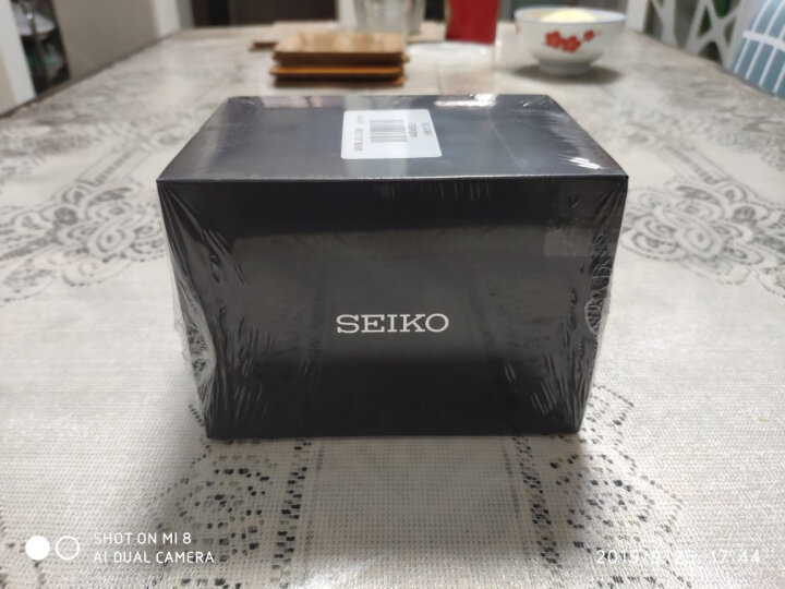 精工(SEIKO)手表 日本原装进口SEIKO5号系列白盘钢带避震双日历商务全自动机械男表SNKN09J1 晒单图