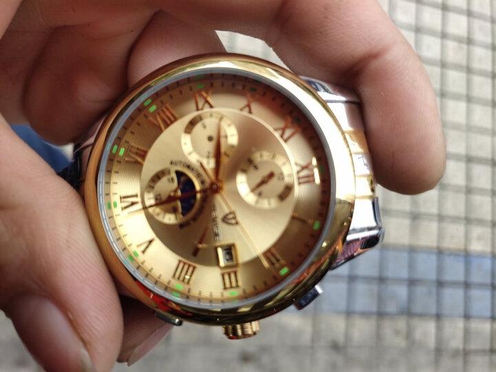 香港TEVISE手表 男士商务系列全自动机械腕表 时尚夜光防水日历男表 629新款间金蓝面*升级款 晒单图