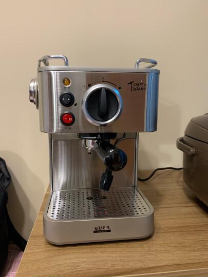 灿坤(EUPA)咖啡机家用 19Bar意式半自动咖啡机办公室用 不锈钢机身1819A 银色 晒单图