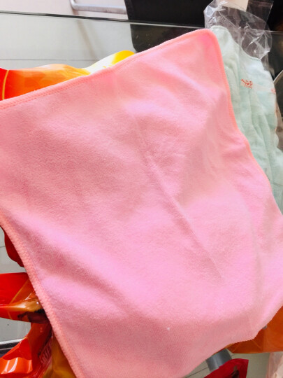 家杰 厨房用去污易清洗 波浪海绵百洁布 洁净洗碗巾 彩色抹布 不粘油 2片装 JJ-001 晒单图