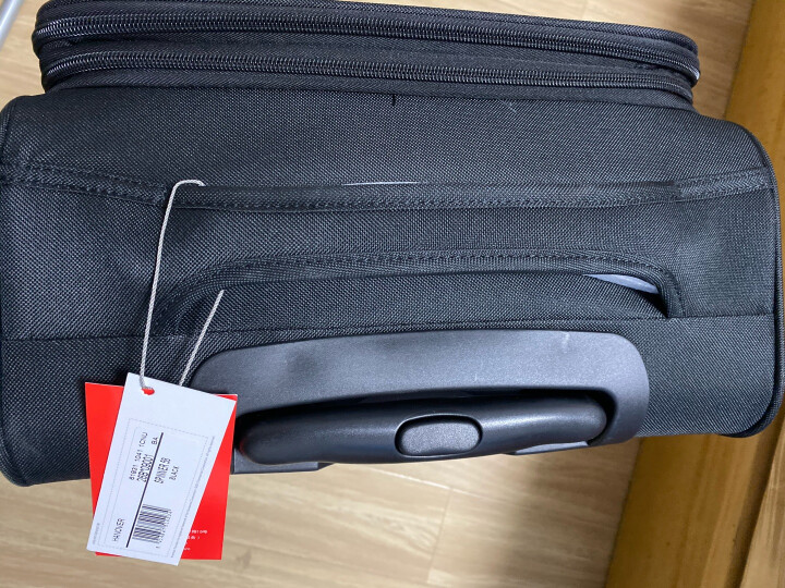 美旅拉杆箱  行李箱经典简约商务防泼水万向轮密码锁登机旅行箱 软箱21英寸大容量可扩展26B黑色 晒单图