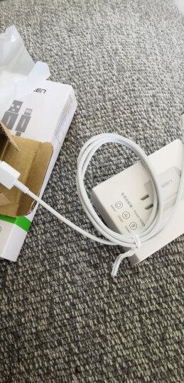 绿联 MFi认证 苹果数据线Xs Max/XR/X/8/7手机快充充电器线USB电源线 支持iphone5/6s/7Plus/ipad 1米20728白 晒单图