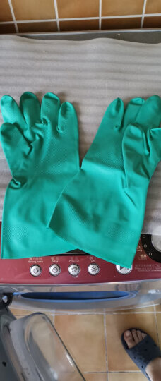 爱马斯(AMMEX) ammex爱马斯加厚加长丁腈手套耐酸碱耐腐蚀耐油防水耐磨手套清洁洗碗家务 大号L 晒单图