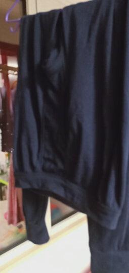 红豆内衣男士秋衣秋裤纯棉圆领棉毛衫薄款打底保暖套装591 大红 175/100 晒单图