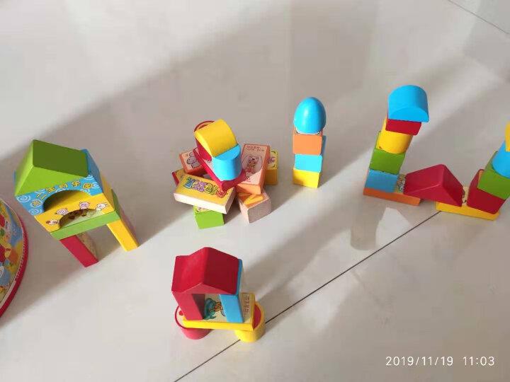 丹妮奇特(Dan Ni Qi Te) 数字乐园早教积木桌面男孩女孩玩具木制早教拼图宝宝婴儿启蒙1-3周岁桶装-8508 晒单图
