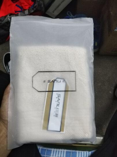 三利 A类加厚长绒棉 缎边大方巾 纯棉吸水 柔软舒适 带挂绳 婴儿可用 紫丁香色 晒单图