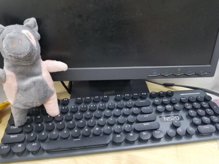 新盟超薄无线键盘鼠标套装巧克力办公家用游戏台式电脑笔记本无限键鼠蒸汽朋克复古机械手感男女静音非无声 青葱绿色无线套装 晒单图