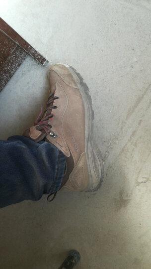 探路者(TOREAD)徒步鞋 男女士防滑耐磨登山鞋 秋冬季防泼水户外鞋 TFAA91057 油泥/深橘红(男)44码 晒单图